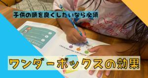 ワンダーボックスの効果を4歳娘で実感!体験談をブログにまとめています。